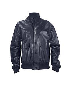 SCHIATTI & C | Mens Dark Blue Italian Nappa Leather Two-Pocket Jacket