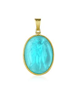 Tagliamonte | Three Graces 18k Gold Mother Of Pearl Cameo Pendant