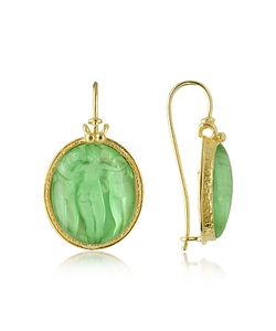 Tagliamonte | Three Graces 18k Gold Mother Of Pearl Cameo Earrings