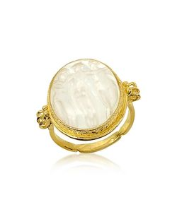 Tagliamonte | Three Graces 18k Gold Mother Of Pearl Cameo Ring