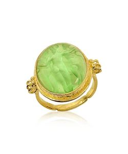 Tagliamonte | Three Graces 18k Green Mother Of Pearl Cameo Ring