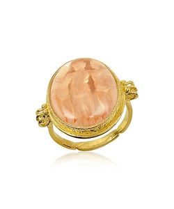 Tagliamonte | Three Graces 18k Rose Mother Of Pearl Cameo Ring