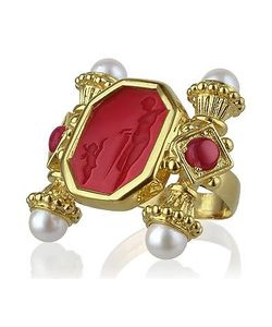 Tagliamonte | Classics Collection Pearls Rubies 18k Gold Ring