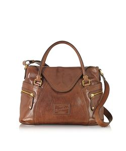The Bridge | Icons Gaucho Medium Marrone Leather Tote W/Shoulder Strap