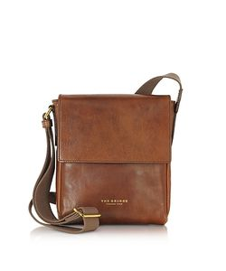 The Bridge | Sfoderata Marrone Leather Mens Crossbody Bag