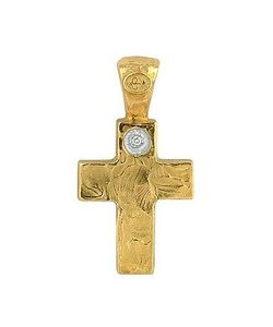 Torrini | 18k Yellow Gold Cross With Diamond