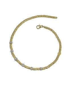 Torrini   Rondelle Moving Big 18k Yellow Gold And Diamond Necklace