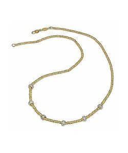 Torrini | Rondelle Moving Mini 18k Yellow Gold And Diamond Necklace