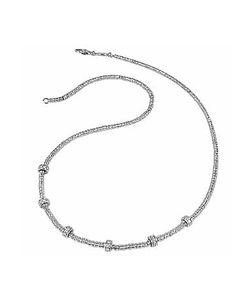 Torrini   Rondelle Moving Mini White Gold And Diamond Necklace