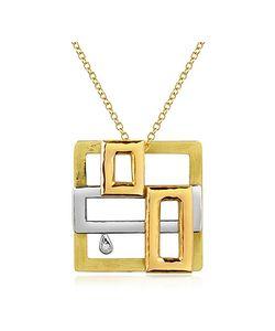 Torrini   Cubisme Diamond 18k Gold Pendant Necklace