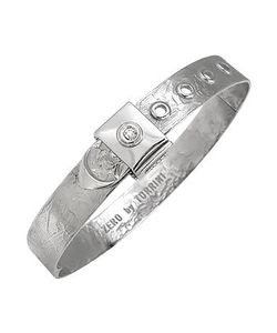 Torrini | Zero 18k White Gold And Diamond Bangle Bracelet