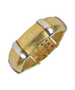 Torrini | Morphos 18k Yellow And White Cuff Bracelet