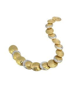 Torrini | Lenticchie 18k Gold And Diamond Bracelet