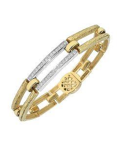 Torrini | Beatrice Gold And Diamond Rectangular Link Bracelet