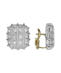 Torrini | Wallstreet Collection 18k White Gold Diamond Earrings