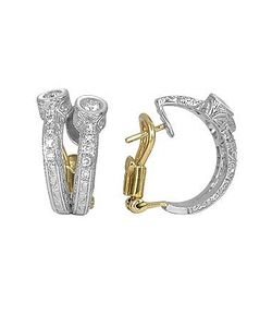 Torrini | Liu Collection 18k White Gold And Diamond Earrings