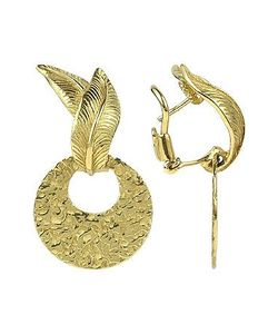 Torrini | Victoria 18k Yellow Gold Chiselled Earrings