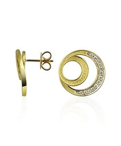 Torrini | Infinity 18k Yellow Gold Diamond Earrings
