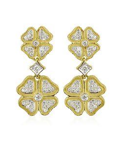 Torrini | Quadrifoglio Diamond Four-Leaf Clover 18k Gold Earrings