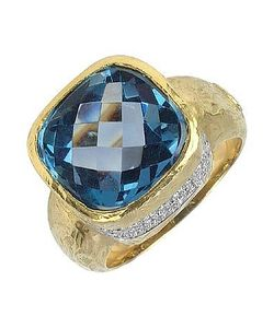 Torrini | Stefy Topaz And Diamonds Yellow Ring