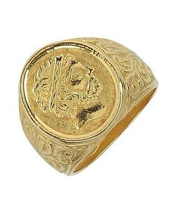 Torrini | Socrates Engraved Oval Yellow Mens Ring