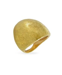 Torrini | Elena Flamed 18k Yellow Shield Ring