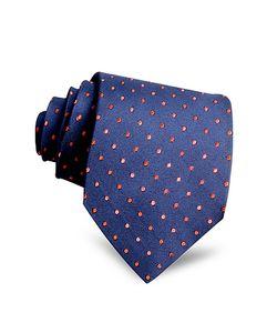 Villa Bolgheri | Polkadots Woven Silk Tie