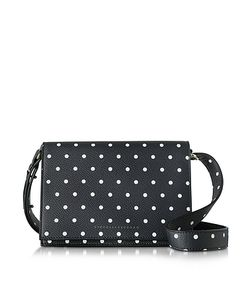 Victoria Beckham | Printed Pois Navy And Black Mini Shoulder Bag