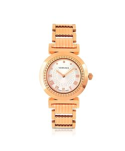Versace | Vanity Lady Rose Gold Stainless Steel Womens Watch