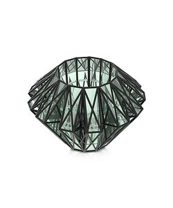 VOJD STUDIOS | Translucent Glass Cage Statement Cuff