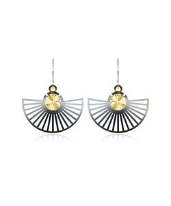 VOJD STUDIOS | Phase Precious Sterling Fan Dangle Earrings