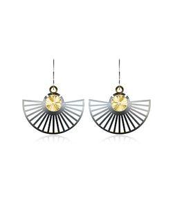VOJD STUDIOS | Phase Precious Sterling Fan Dangle Earrings