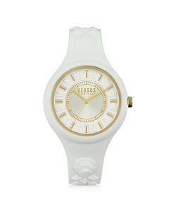 Versace Versus | Fire Island Silicon And Gold Tone Stainless Steel Womens Watch