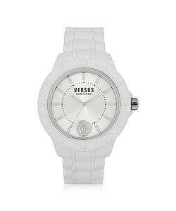 Versace Versus | Tokyo Silicon And Silver Tone Stainless Steel Unisex Watch