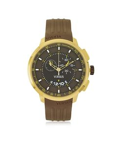 Versace Versus | Manhattan Mens Chronograph Watch W/Brown Rubber Strap