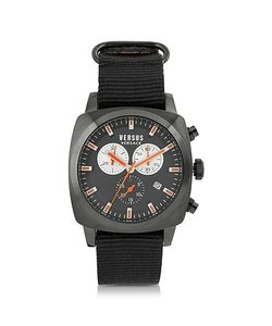 Versace Versus | Riverdale Plate Stainless Steel And Canvas Strap Mens Watch