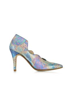 Zoe Lee | Multicolor Marlon Metallic Fabric And Leather Pump