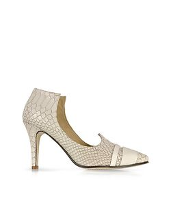 Zoe Lee | Clinton Embossed Leather Pump