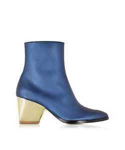 Zoe Lee | Addis Tte Embossed Leather Bootie