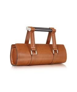 Aznom | Carbon Lady Vintage Leather Baguette Bag With Ergonomic Handles