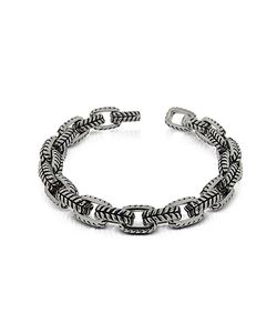 Zoppini | Zo-Chain Stainless Steel And Black Enamel Link Bracelet