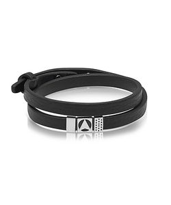 Northskull | Insignia Black And Silver Double Wrap Bracelet