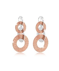 Rebecca | R-Zero Rose Over Bronze Dangle Earrings