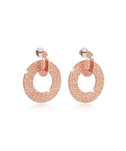 Rebecca | R-Zero Rose Over Bronze Drop Hoop Earrings