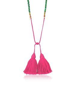 Aurelie Bidermann   Jaspe Beads 18k Plated Sioux Necklace