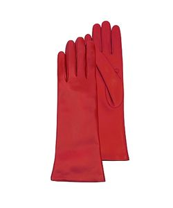 Forzieri | Leather Long Gloves W/Cashmere Lining