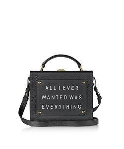 meli melo | Leather Art Bag W/Front Text Floater
