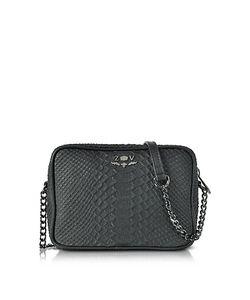 Zadig & Voltaire | Embossed Leather Boxy Cobra Crossbody Bag