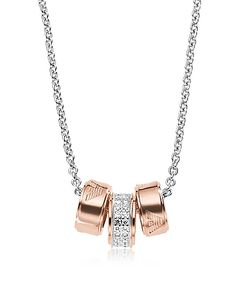 Emporio Armani | Heritage Stealing Pvd Rose Goldtone Charms Necklace