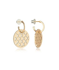 Rebecca | Melrose Over Bronze Drop Hoop Earrings